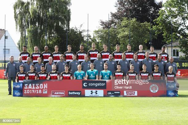 Team of FC Sankt Pauli Back Sami Allagui, Bernd Nehrig, Christopher Avevor, Daniel Buballa, Luca-Milan Zander, Aziz Bouhaddouz, Lasse Sobiech,...
