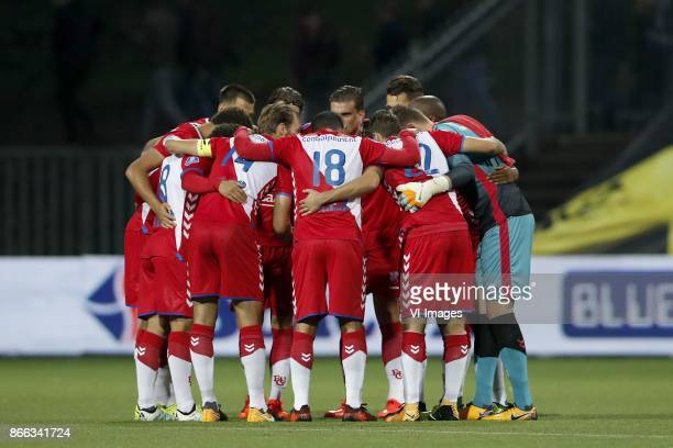 team of FC Utrecht during the Second Round Dutch Cup match between VVVVenlo and FC Utrecht at Seacon stadium De Koel on October 25 2017 in Venlo The...