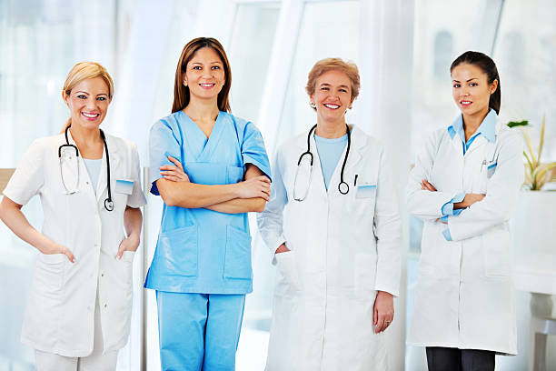 Team Of Female Doctors. Wall Art