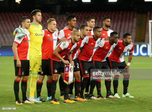 Team of Feyenoord pose for photo prior the UEFA Champions League group F match between SSC Napoli and Feyenoord at Stadio San Paolo on September 26...