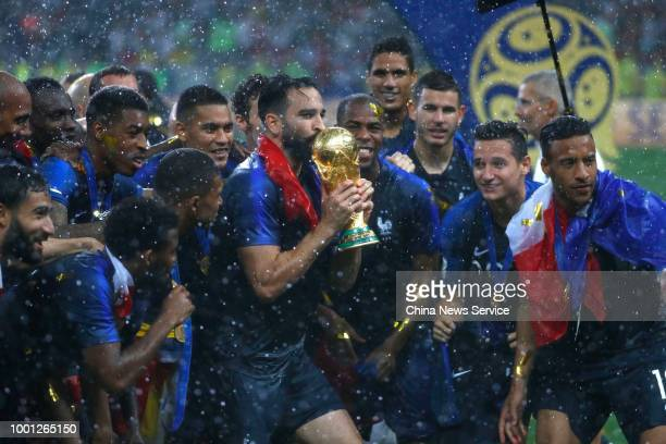Team of France celebrates winning the World Cup following the 2018 FIFA World Cup Final between France and Croatia at Luzhniki Stadium on July 15...