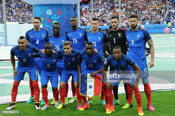 Team of France during the GroupA preliminary round match between France and Romania at Stade de France on June 10 2016 in Paris France