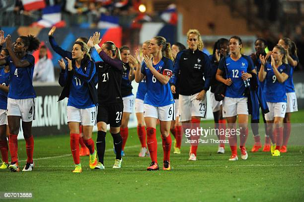 Team of France during the International friendly match between France women and Brazil women on September 16 2016 in Grenoble France
