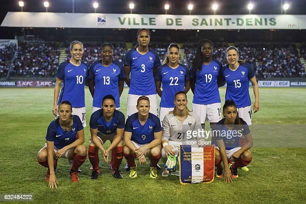Team of France in line up Top Row Camille Abily Kadidiatou Diani Wendie Renard Amel Majri Griedge MBock Bathy Elise Bussaglia Bottom Row Sandie...