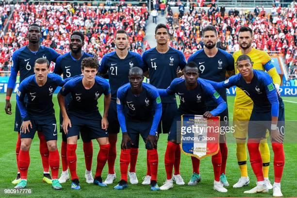Team of France line up Paul Pogba Samuel Umtiti Lucas Hernandez Raphael Varane Olivier Giroud Hugo Lloris Antoine Griezmann Benjamin Pavard Ngolo...