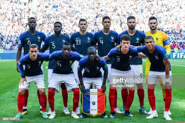 Team of France line up Paul Pogba Samuel Umtiti Lucas Hernandez Raphael Varane Olivier Giroud Hugo Lloris Antoine Griezmann Blaise Matuidi Ngolo...