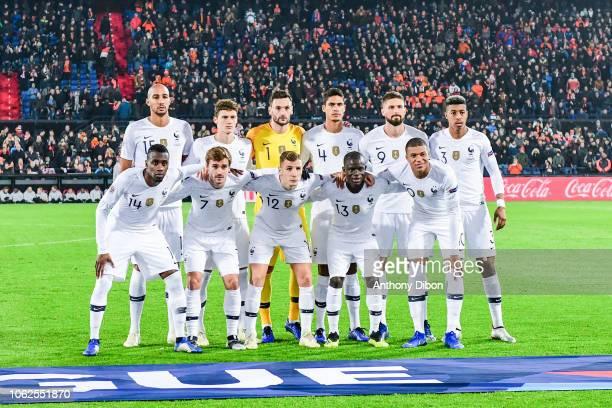 Team of France line up Steven Nzonzi Benjamin Pavard Hugo Lloris Raphael Varane Olivier Giroud and Presnel Kimpembe Blaise Matuidi Antoine Griezmann...