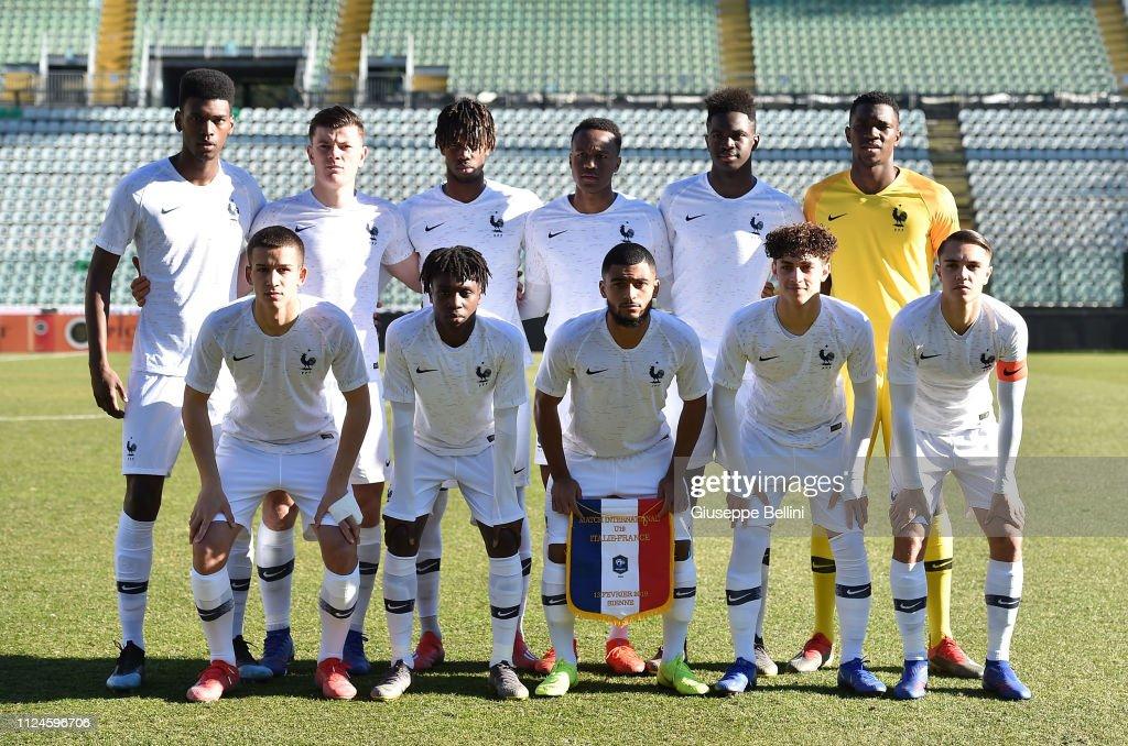 Italy U19 v France U19 : Photo d'actualité
