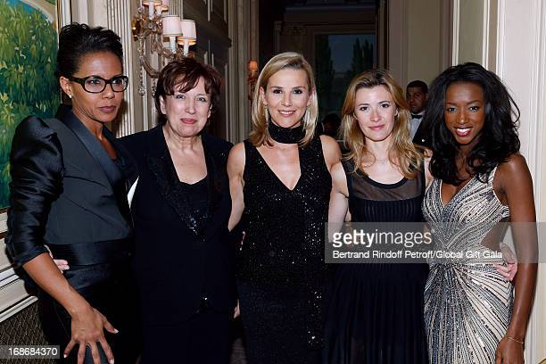 Team of french TV show 'Le grand 8' Audrey Pulvar Roselyne Bachelot Narquin Laurence Ferrari Elisabeth Bost and Hapsatou Sy attend 'Global Gift Gala'...