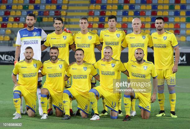 Team of Frosinone Calcio before the PreSeason Friendly match between Frosinone Calcio and Real Betis on August 9 2018 in Frosinone Italy