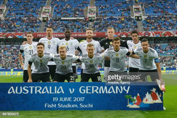 team of Germany before match the FIFA Confederations Cup 2017 group B soccer match between Australia and Germany in Sochi Russia on June 19 2017