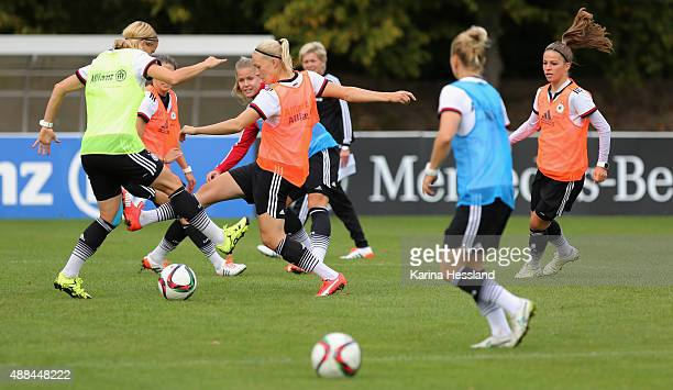 Team of Germany during the training on September 16 2015 in Leipzig Germany