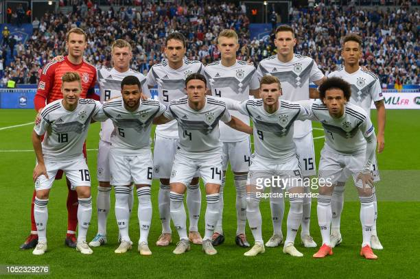 Team of Germany during the UEFA Nations League A group one match between France and Germany at Stade de France on October 16 2018 in Paris France