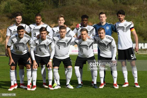 Team of Germany during the Under 20 International Friendly match between U20 of Portugal and U20 of Germany at stadium Municipal Sergio Conceicao on...