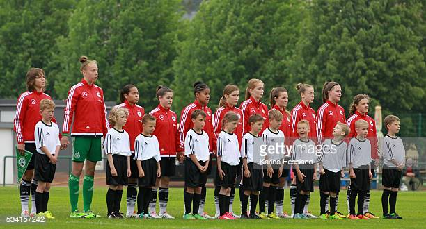 Team of Germany on the place during the International Friendly match between U15 Girls Germany and U15 Girls Czech Republic at Auenstadion on May 24...