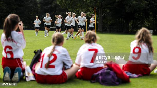 'SHERTOGENBOSCH NETHERLANDS JULY 22 Team of Germany runs during the training on July 22 2017 in 'sHertogenbosch Netherlands