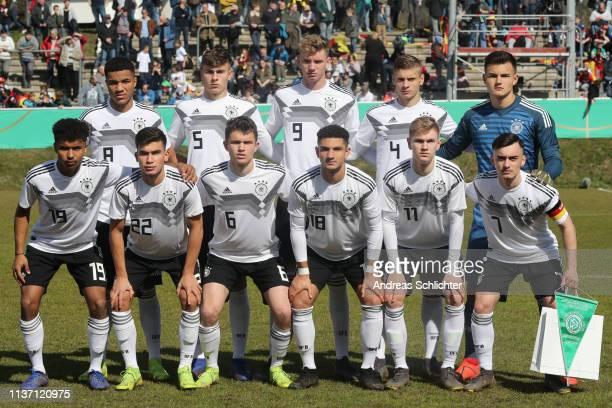 team of Germany U17 during the UEFA Elite Round game between Germany U17 and Belarus U17 on March 20 2019 in IdarOberstein Germany