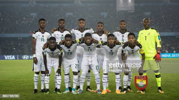 Team of Ghana prior the FIFA U17 World Cup India 2017 group A match between Ghana and India at Jawaharlal Nehru Stadium on October 12 2017 in New...