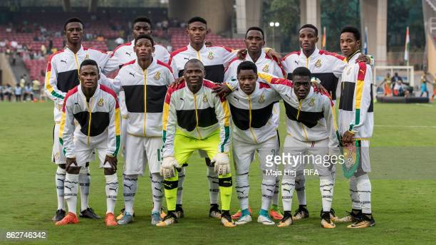 Team of Ghana prior the FIFA U17 World Cup India 2017 Round of 16 match between Ghana v Niger at Dr DY Patil Cricket Stadium on October 18 2017 in...