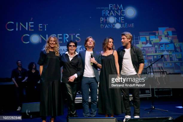 Team of 'Guy' Pascale Arbillot Dani director Alex Lutz Elodie Bouchez and Tom Dingler perform during the 11th Angouleme FrenchSpeaking Film Festival...