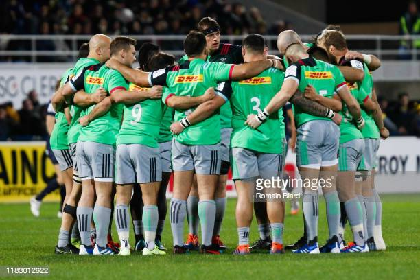 Team of Harlequins during the European Rugby Champions Cup Pool 3 match between ASM Clermont Auvergne and Harlequin FC on November 16 2019 in...