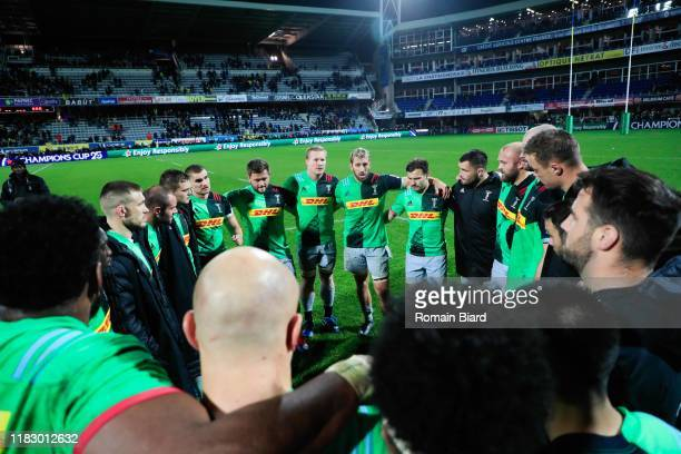 Team of Harlequins during the European Rugby Champions Cup, Pool 3 match between ASM Clermont Auvergne and Harlequin FC on November 16, 2019 in...