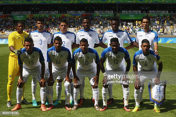Team of Honduras before the Men's Olympic Football Bronze Medal match between Honduras and Nigeria at Mineirao Stadium on August 20 2016 in Belo...