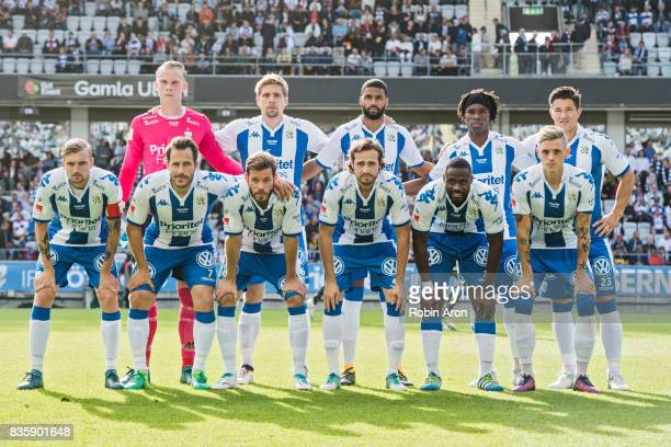 Team of IFK Goteborg before the Allsvenskan match between IFK Goteborg and BK Hacken at Gamla Ullevi on August 20 2017 in Gothenburg Sweden