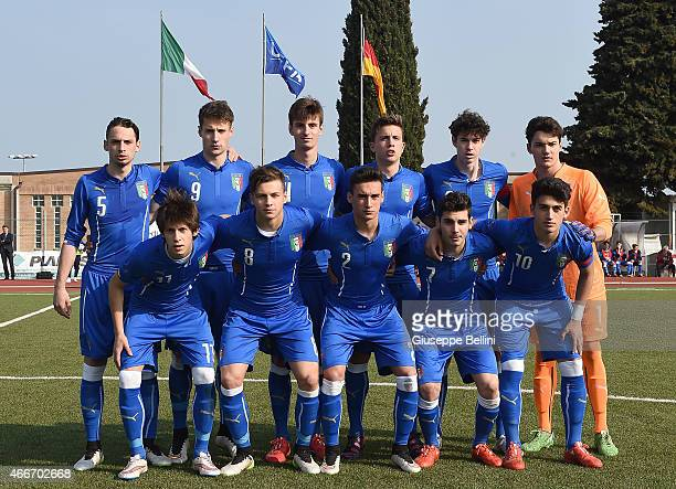Team of Italy before the international friendly match between U16 Italy and U16 Germany on March 18 2015 in Recanati Italy