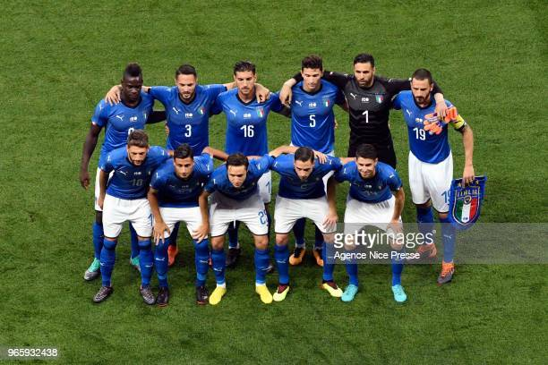 Team of Italy during the International Friendly match between France and Italy at Allianz Riviera Stadium on June 1 2018 in Nice France
