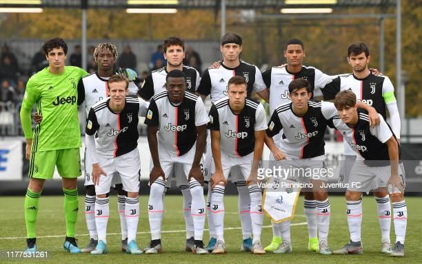 Team of Juventus line up during the UEFA Youth League group D match between Juventus and Lokomotiv Moskva at Juventus Center Vinovo on October 22...