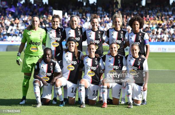 Team of Juventus Women prior the Italian Supercup match between Juventus Women and Fiorentina Women at Orogel Stadium Dino Manuzzi on October 27 2019...