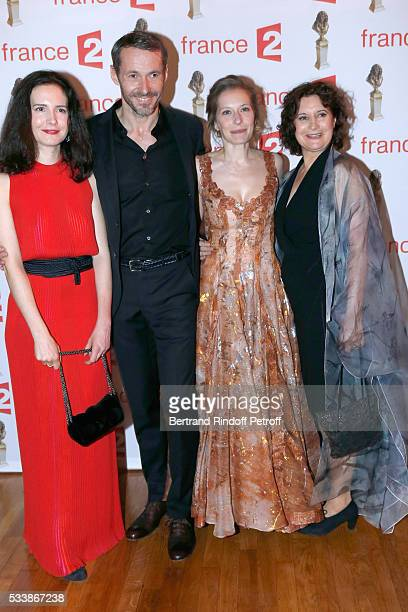 Team of La Mediation autor and actress Chloe Lambert stage director and actor Julien Boisselier actresses Ophelia Kolb and Raphaeline Goupilleau...