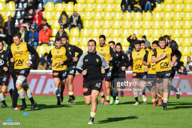 Team of La Rochelle during the Top 14 match between La Rochelle and Montpellier on December 2 2017 in La Rochelle France