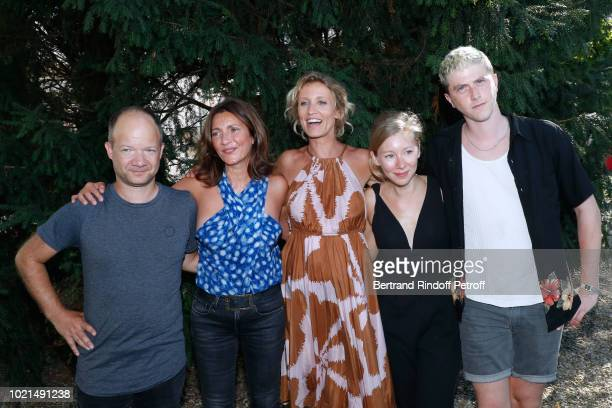 Team of 'Le Poulain' Director Mathieu Sapin Valerie Karsenti Alexandra Lamy guest and Finnegan Oldfield attend the 11th Angouleme FrenchSpeaking Film...