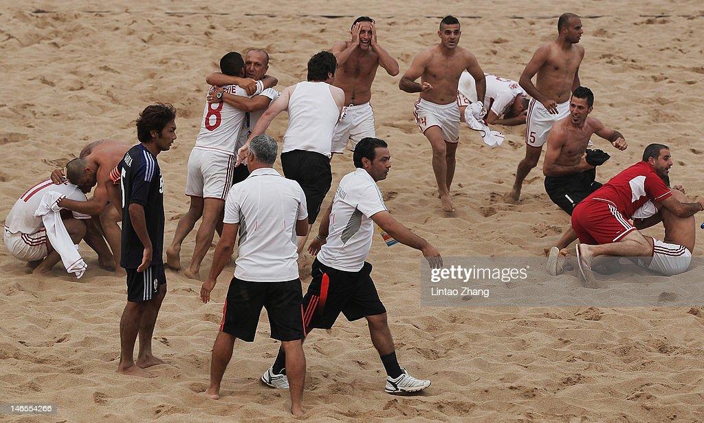 3rd Asian Beach Games: Beach Soccer Day 3 : News Photo