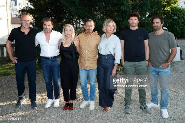 Team of Les Chatouilles Producer Francois Kraus actors Clovis Cornillac codirector Andrea Bescond codirector Eric Metayer actors Karin Viard Pierre...