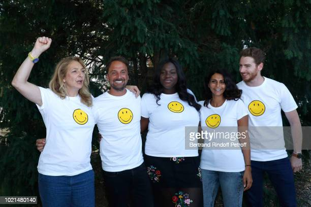 Team of Les Invisibles Corinne Masiero director LouisJulien Petit Deborah Lukumuena producer Liza Benguigui and Pablo Pauly attend the 11th Angouleme...