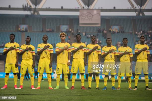 Team of Mali prior the FIFA U17 World Cup India 2017 group A match between Mali and New Zealand at Jawaharlal Nehru Stadium on October 12 2017 in New...