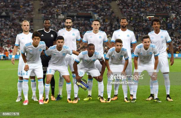 Team of Marseille during the Uefa Europa League Playoffs match second leg between Olympique de Marseille and NK Domzale at Stade Velodrome on August...