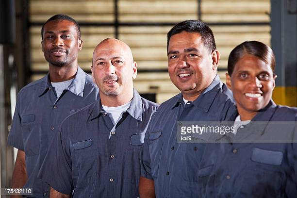 Team of mechanics