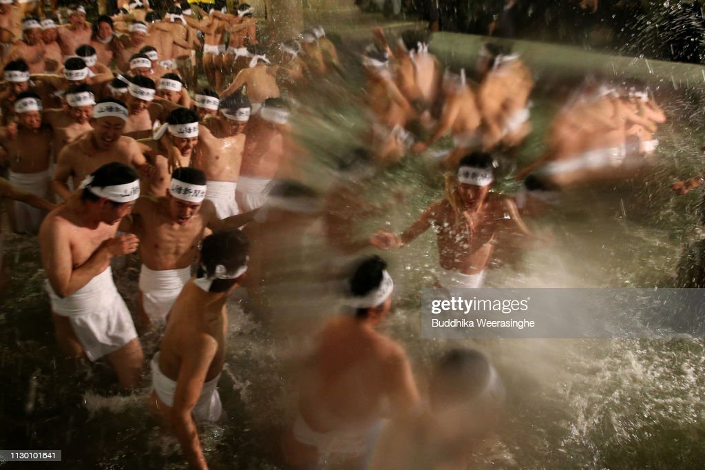 JPN: Thousands of Men Battle for Lucky Sticks in Freezing Temperature at Naked Festival