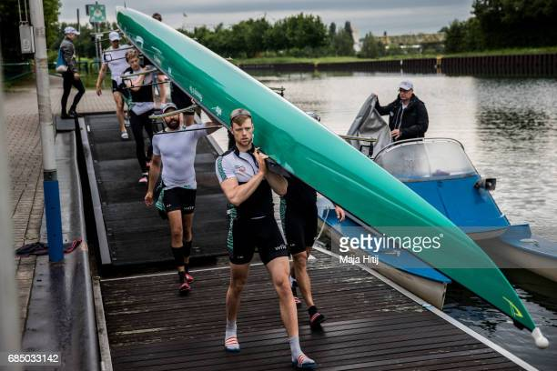 Team of Men's Eight Germany arrives for a training on May 19 2017 in Dortmund Germany