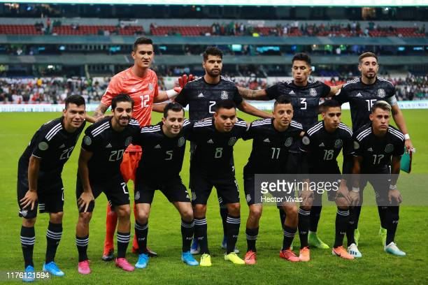 Team of Mexico pose during the match between Mexico and Panama as part of the Concacaf Nations League at Azteca Stadium on October 15, 2019 in Mexico...