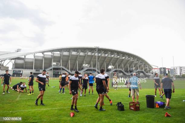 Yvan Watremez of Montpellier during the first training session of the new season 2018/2019 of the Montpellier Herault rugby on July 16 2018 in...