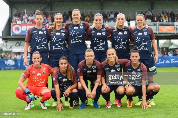 Team of Montpellier during the women's Division 1 match between Montpellier and Lyon on September 30 2017 in Montpellier France