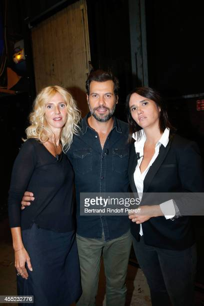 Team of movie 'Elle l'adore' Actress Sandrine Kiberlain actor Laurent Lafitte and daughter of Julien Clerc and Miou Miou and director of the movie...