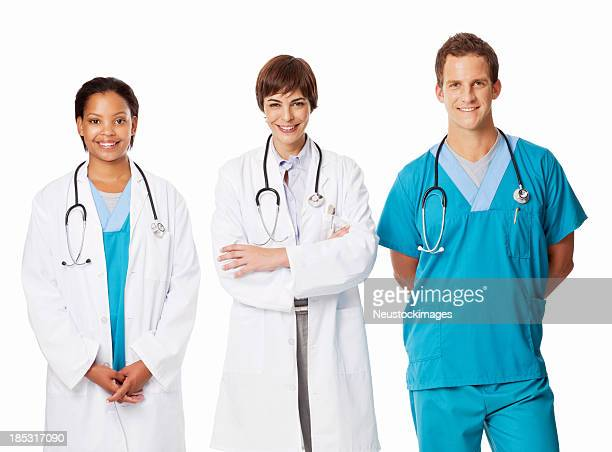 Team of Multi Ethnic Doctors - Isolated