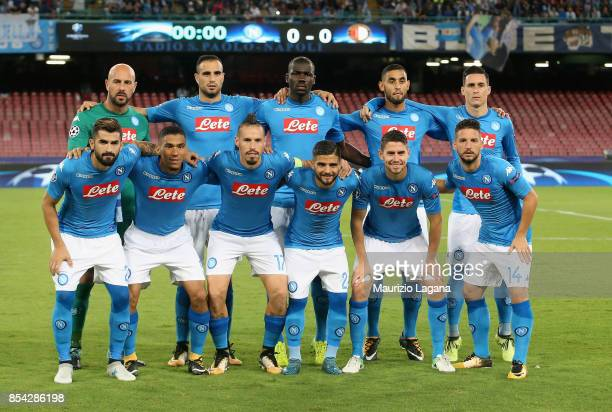 Team of Napoli pose for phoo prior the UEFA Champions League group F match between SSC Napoli and Feyenoord at Stadio San Paolo on September 26 2017...