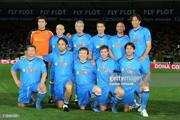 Team of Nazionale Cantanti pose during the XIX Partita Del Cuore charity football game at on May 25 2010 in Modena Italy